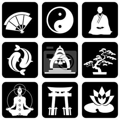 imagenes de simbolos budistas fotomural budismo s 237 mbolos portador silueta pixers es