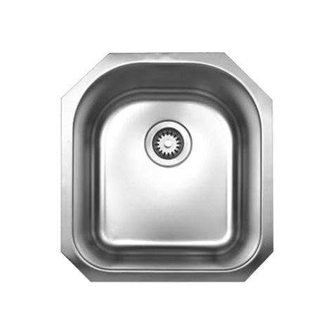 brushed stainless steel undermount kitchen sink whitehaus collection noah s collection undermount brushed stainless steel 20 in 0 single