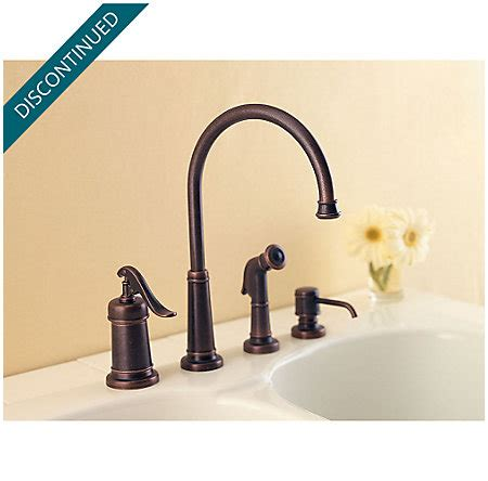 pfister gt26 4ypu ashfield 4 hole kitchen faucet in rustic rustic bronze ashfield 1 handle kitchen faucet gt26 4ypu