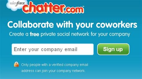 Salesforce Email Address Lookup Salesforce Launches Chatter For Any Business With Company Email Addresses