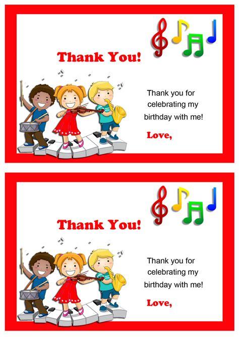 printable music thank you cards music thank you cards birthday printable