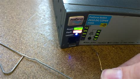 resetting hp switch to factory defaults hp procurve 2610 basic setup using console cable my