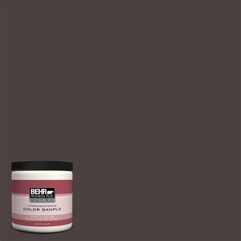 behr premium plus ultra 8 oz ppu5 20 sweet molasses interior exterior paint sle ul20316