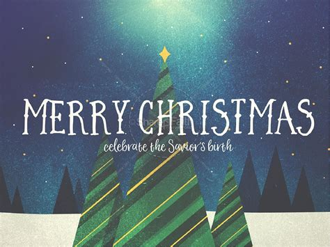 Merry Christmas Tree Church Powerpoint Christmas Powerpoints Merry Powerpoint Template