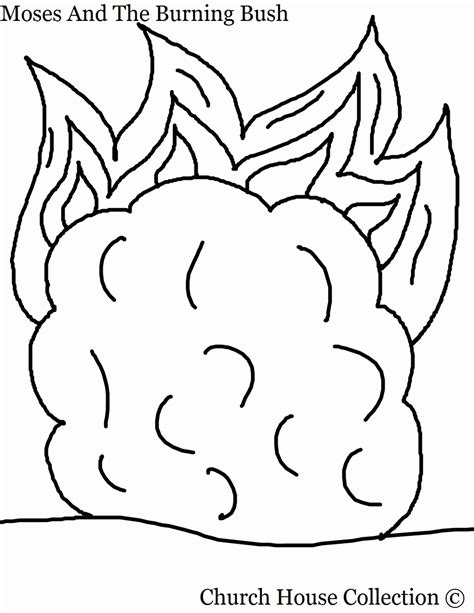 Moses And Burning Bush Coloring Page Coloring Home Coloring Pages For Preschool Moses And The Burning Bush