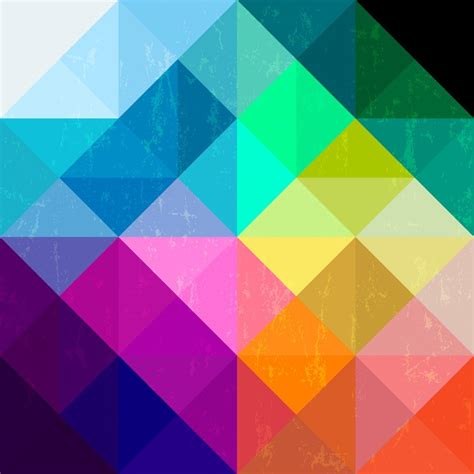 Gymnastics Wall Murals abstract geometric pattern background with triangles