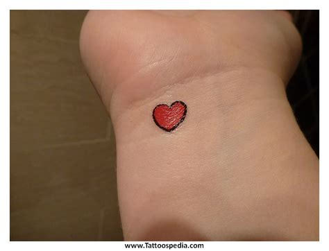 heartbeat temporary tattoo temporary tattoo heart 2