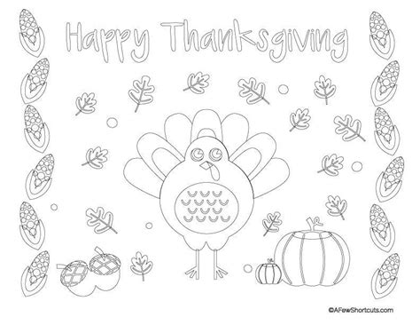 thanksgiving coloring placemats thanksgiving place mat page coloring pages
