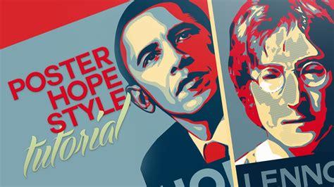 illustrator tutorial obama poster photoshop illustrator tutorial poster obama hope style