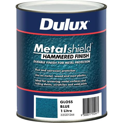 spray painting adelaide dulux metalshield 1l hammered finish blue bunnings warehouse