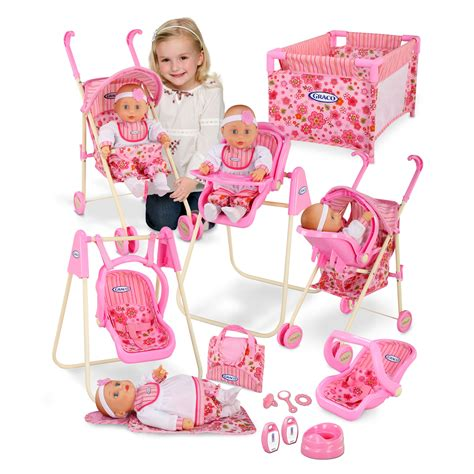 Baby Doll Stroller Crib And Highchair by Graco 11 Jessa Baby Doll Playset At Hayneedle