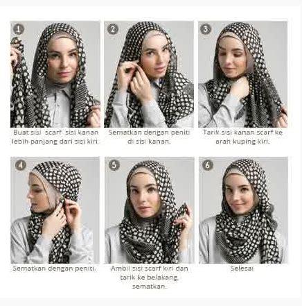 tutorial berhijab terbaru foto tutorial hijab modern sederhana terbaru 2015 new