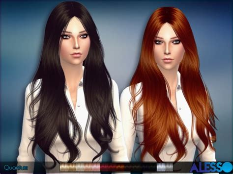 sims 4 hair custom content the sims resource quantum hair by alesso sims 4 downloads