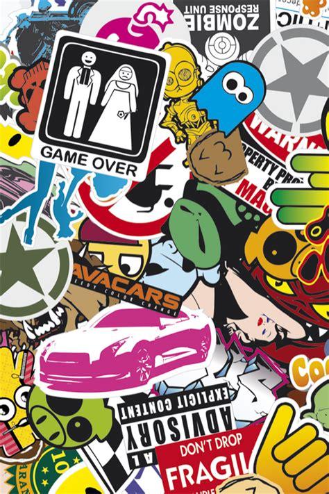 Sticker Bomb Iphone 4 Wallpaper