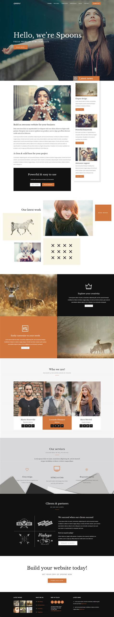 25 fresh creative html5 website templates psd html
