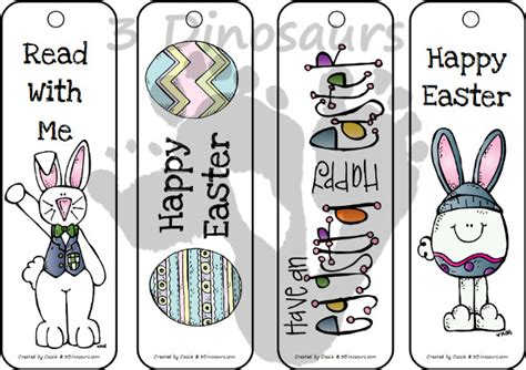 free printable easter bookmarks easter themed bookmarks 3 dinosaurs