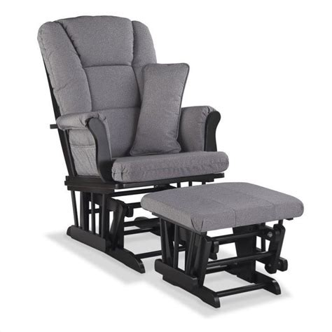 black glider and ottoman custom glider and ottoman in black and slate gray 06554 55b