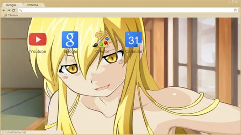 hot girl themes google chrome shinobu oshino sexy chrome theme themebeta