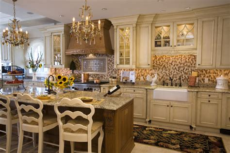 White French Country Kitchen Cabinets traditional kitchens