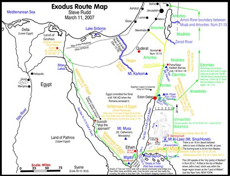 map route the exodus route travel times distances rates of travel days of the week