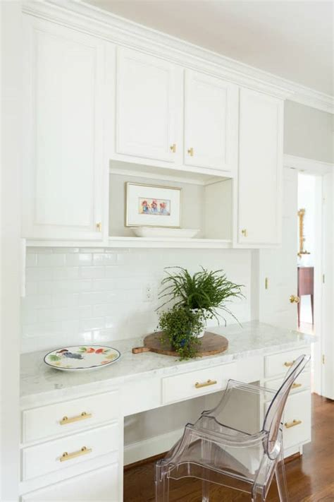 Gold Paint Kitchen by Our White And Gold Kitchen Makeover Trevey Home