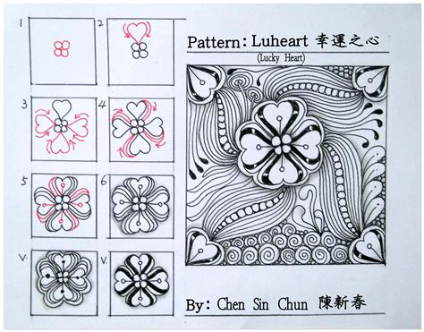 doodle pattern step by step luheart zentangle doodles how to tangle pattern tutorial