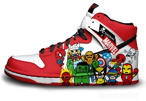 marvel shoes for marvel nike dunks by becauseimjay on deviantart