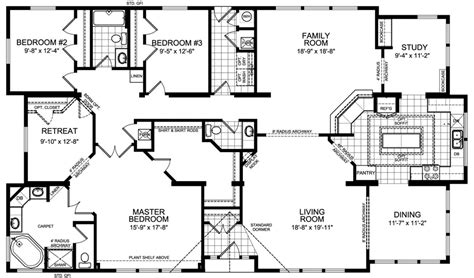 3 bedroom 2 bathroom house plans floor plans three bedroom two bath house