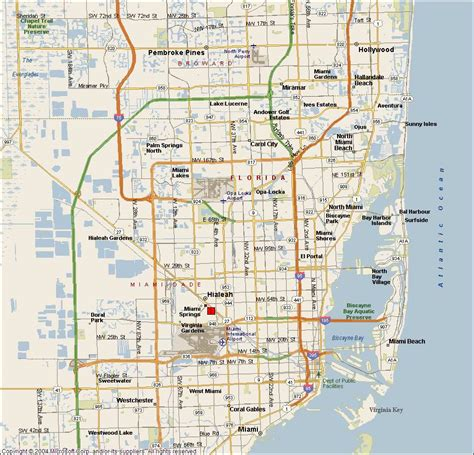 miami map miami springs fl map pictures to pin on pinsdaddy