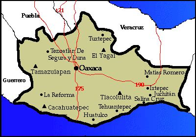 oaxaca mexico map huatulco mexico map images