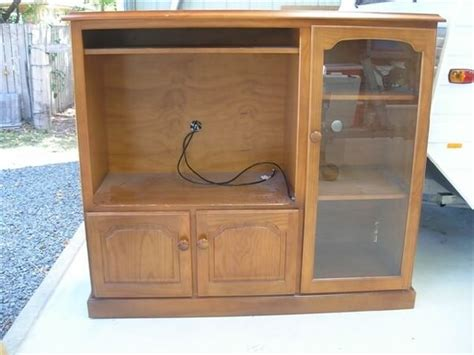 tv cabinet made into play kitchen how to repurpose an old tv console into kid s play kitchen
