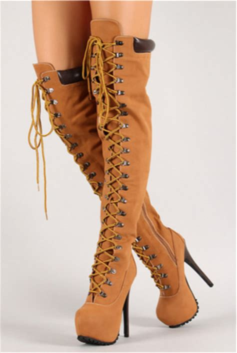 timberlands high heel boots shoes the knee boots thigh high boots platform