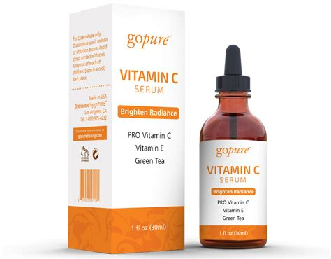 Serum Vit C gopure vitamin c serum with vitamin c vitamin e ferulic acid