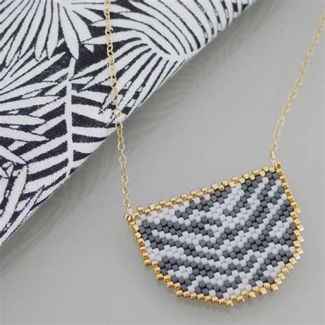 zebra pattern necklace animal necklace zebra pattern miyuki bead weaving perles