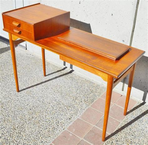 oak sofa table with storage danish teak and oak sofa or hall table with lift top