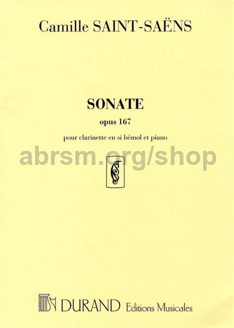 camille saint saëns clarinet sonata op 167 camille saint saens sonata op 167 clarinet bb piano