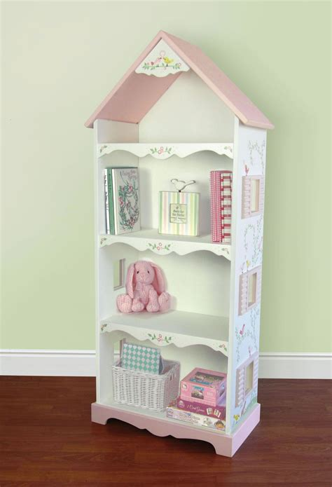 ukid painted birds dollhouse bookshelf