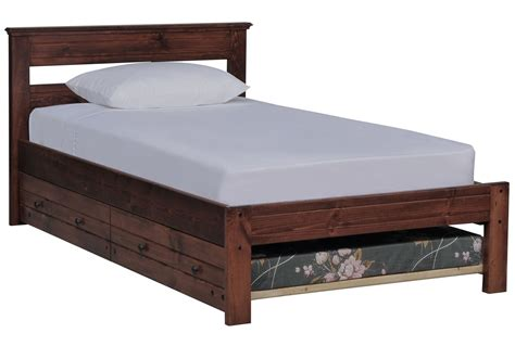 Platform Bed With Trundle Sedona Platform Bed W Trundle Mattress Living Spaces