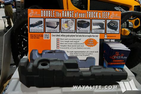 2007 Jeep Grand Fuel Tank Capacity 2015 Sema Titan Fuel Tanks Jeep Jk Wrangler Unlimited