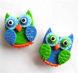 Magnet owls handmade polymer clay magnets 2