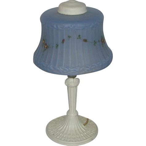 deco l shade deco white painted boudoir l w blue shade from