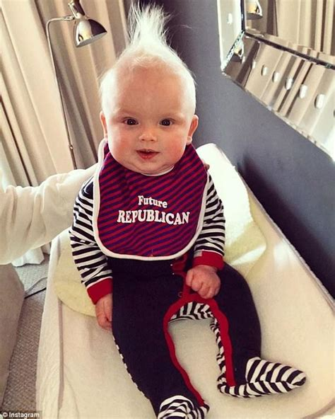 Changing Table White Luke Trump Wears A Future Republican Bib Daily Mail Online