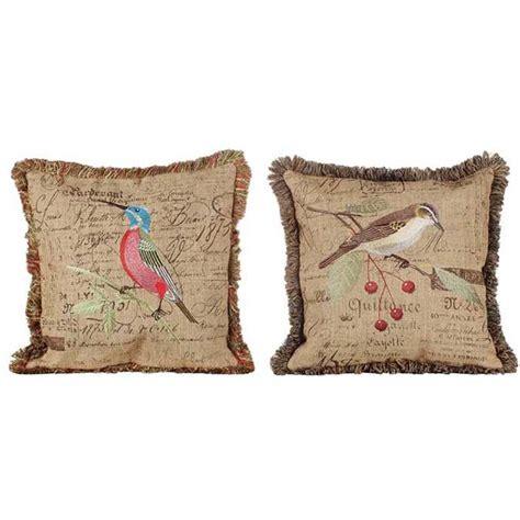 Birdcage Pillow by Embroidered Bird Pillow Set Da0037a