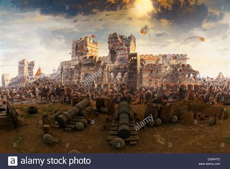 ottoman constantinople painting of the conquest of constantinople in 1453 by the