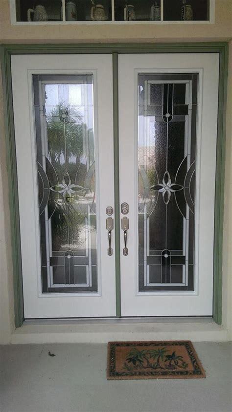 Odl Delray Door Glass Decorative Insert Double Fiberglass Exterior Door Glass Insert