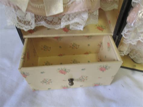 porcelain doll in wooden box vintage china doll in wooden doll carry with clothes