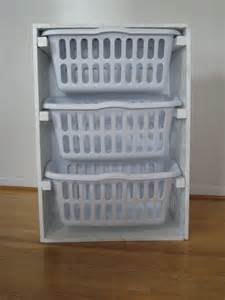 white laundry basket organizer diy projects