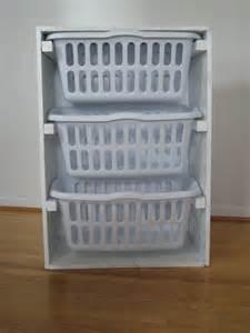 Laundry Room Basket Storage White Laundry Basket Organizer Diy Projects