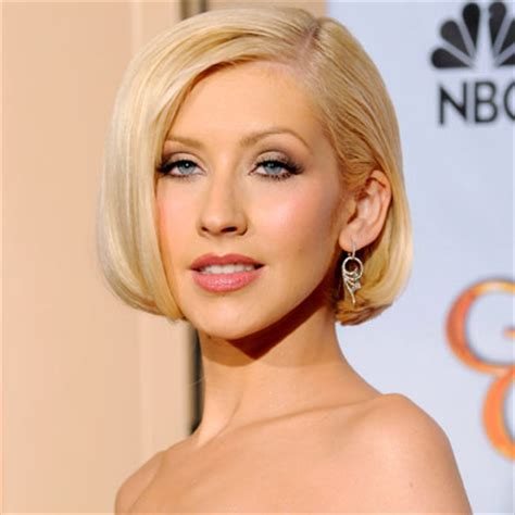 what length bob for a sagging face christina aguilera s hairstyles perfect for american idol
