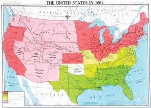 united states in 1861 u s history map
